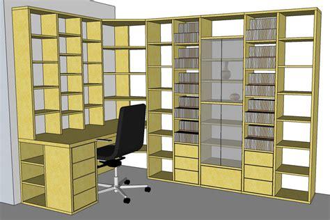 fabrication bibliothèque et bureau d 39 angle sur mesure en bois