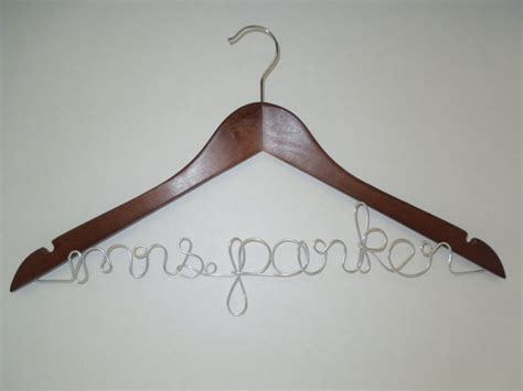diy wooden bridal hanger gift