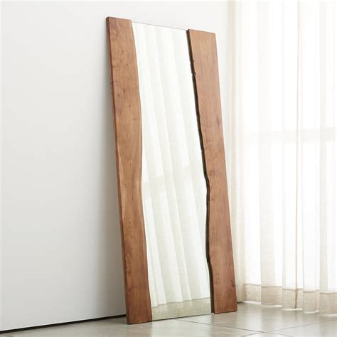 floor mirror wood live edge acacia wood floor mirror so that s cool