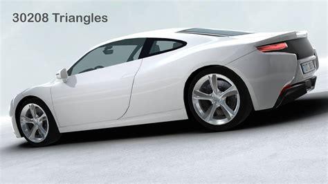 Models Sports Car by Generic Sports Car Realtime 3d Model Flatpyramid