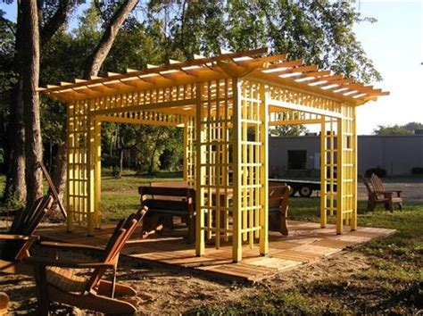 wonderful free standing wood pergola garden landscape