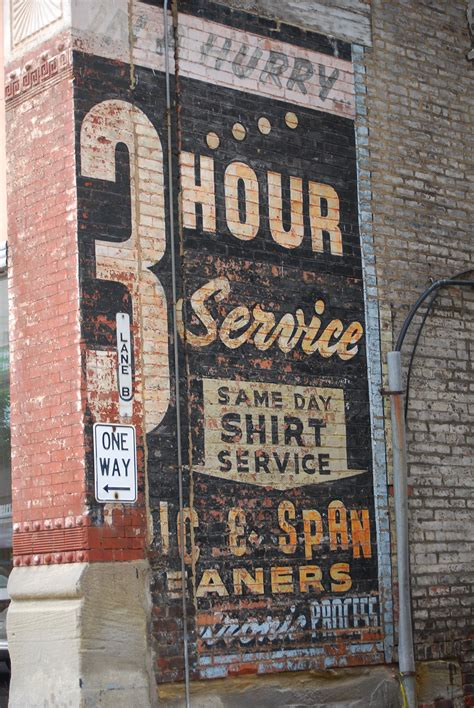 laundry sign  love  vintage ads painted  brick walls   home   painted