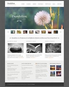 dandelion powerful elegant wordpress theme by pexeto With world press templates