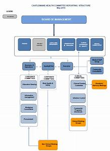 Corporate Management Structure Chart Castlemaine Health Organisation Chart