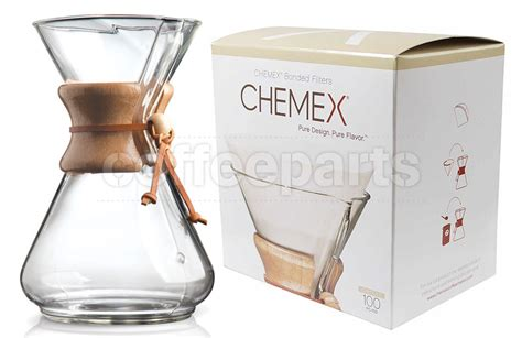 Looking for pour over iced coffee that you can make in a chemex? Chemex 10-Cup Pour Over Coffee Kit inc 100 filters ...