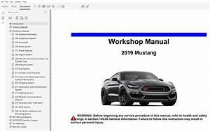 2019 Ford Mustang Repair Manual