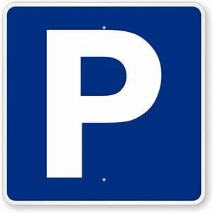 P Symbol Parking Sign , SKU: K-7197  Parking