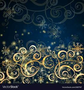 Elegant, Christmas, Dark, Blue, With, Gold, Background, Vector, Image