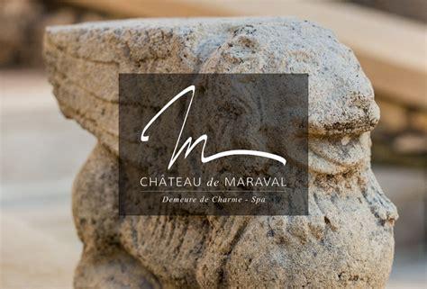 chambre d hote definition logo identité visuelle château de maraval a3 design