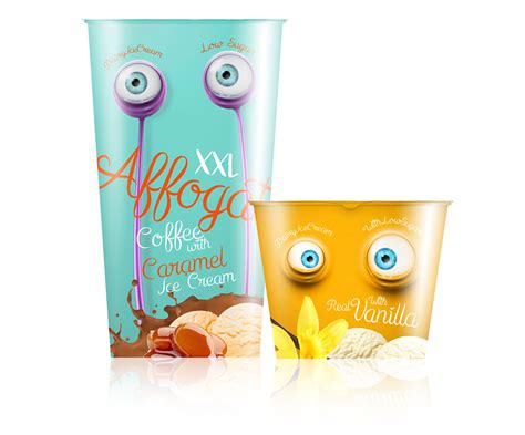 affogato ice cream packaging design