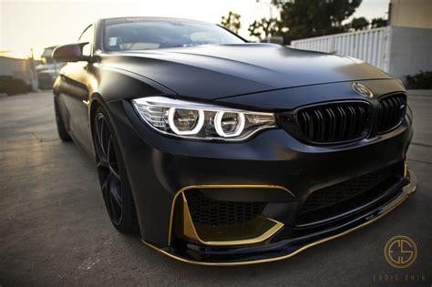 Matte Black Bmw M4 W. Gold Accents.