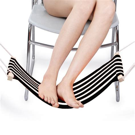 desk foot hammock collapsible home office desk foot rest stand