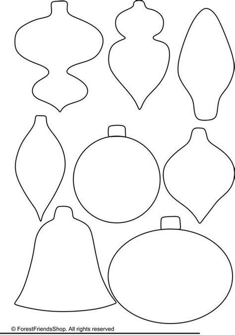 printable christmas ornament shapes ornaments templates pdf instant diy