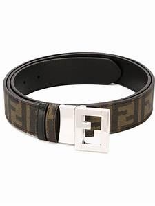 Fendi Ff Logo Belt in Brown for Men | Lyst