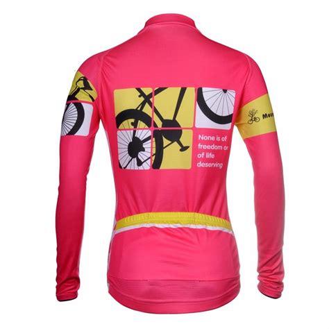 road cycling jacket womens long sleeve cycling jacket pink road bike bicyle
