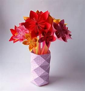 Fleur En Origami Facile : bouquet de fleurs origami truc tricks ~ Farleysfitness.com Idées de Décoration