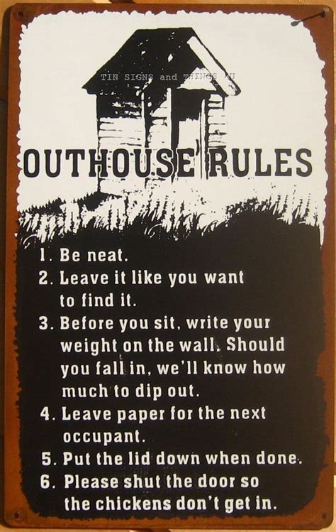 Rude Bathroom Signs by Bathroom Signs Outhouse Tin Sign Metal