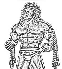 WWE Ultimate Warrior Coloring Pages Free