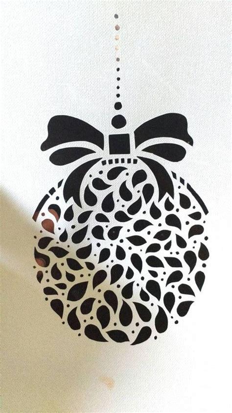 christmas ornament diy papercut template manualidades
