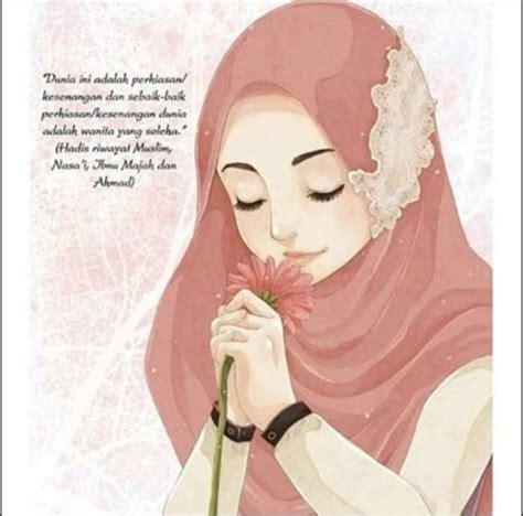 wanita hijab cantik animasi tutorial hijab terbaru