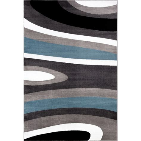 kitchen faucets contemporary rug gallery abstract contemporary modern blue 7 ft