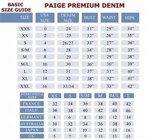 Women Jeans Size Chart Conversion Denim Love Pinterest