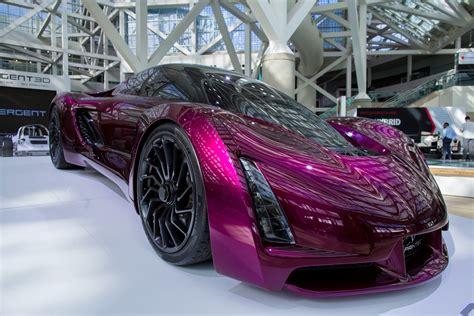 LA Auto show purple sports car - Plastics Make It Possible