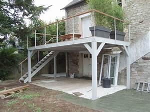 vert l39ouest paysagiste elagage abattage vert louest With terrasse sur pilotis en beton