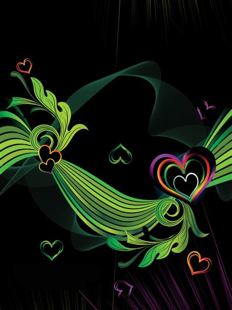 Colorful Heart Backgrounds Wallpapersafari