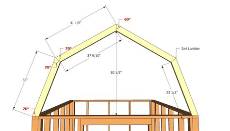 barn shed roof plans shed pinterest gambrel plan