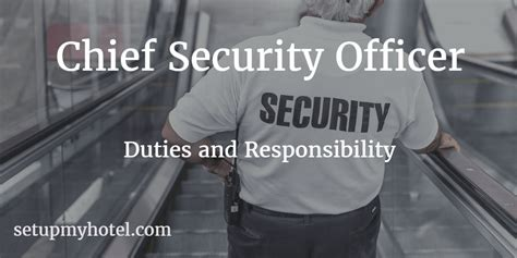 front desk security officer responsibilities chief security officer security manager job description