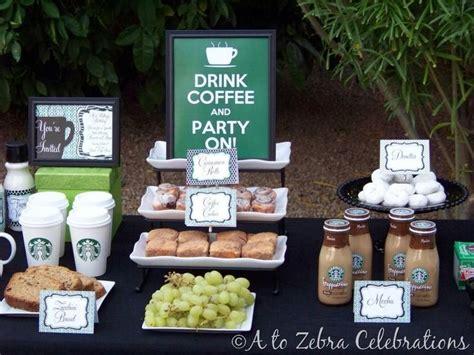 Starbuckscoffee Themed Brunchparty  Party Ideas Pinterest