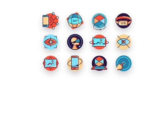 virtual reality icon pack  design blog