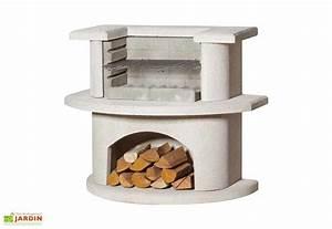 Prix D Un Barbecue : barbecue en b ton au charbon de bois venedig blanc buschbeck ~ Premium-room.com Idées de Décoration