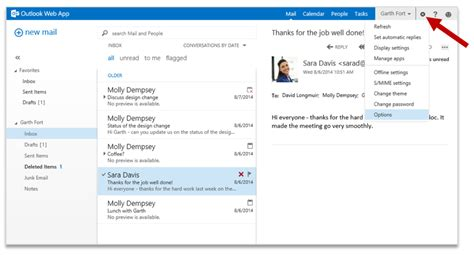 Office 365 Email Java by Improving Outlook Web App Options And Settings Microsoft