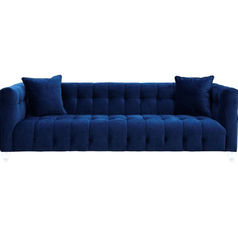 sofa awesome navy velvet sofa  elegant tufted sofa