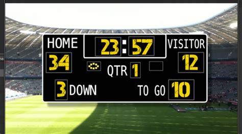 scoreboard american football generator