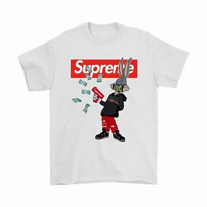Gucci Supreme Bugs Shirts Bunny Rabbit Mashup