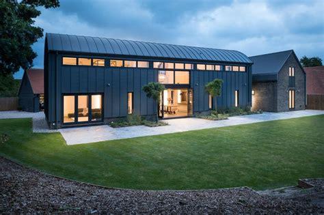 dutch barn conversions   barn style house zinc roof barn conversion