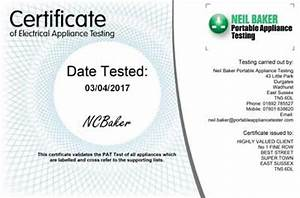 portable appliance testing service pat testing With pat testing certificate template