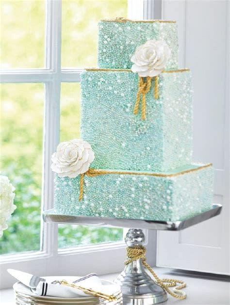 Mint Gold Wedding Cake Hot Wedding Trends For 2013