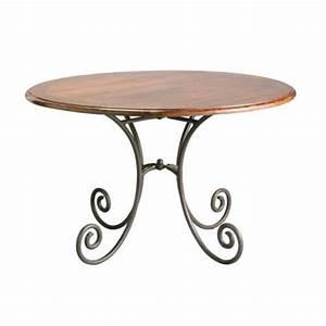 Table Ronde Maison Du Monde : table d ner ronde lub ron table de repas ronde maisons du ~ Teatrodelosmanantiales.com Idées de Décoration