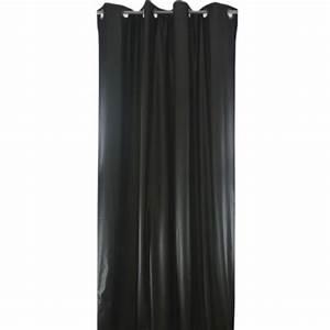 Rideaux Ruflette Pret Poser : rideau occultant isolant phonique et thermique v suvio noir ~ Teatrodelosmanantiales.com Idées de Décoration