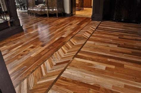 Borders between rooms can blend old and new hardwood