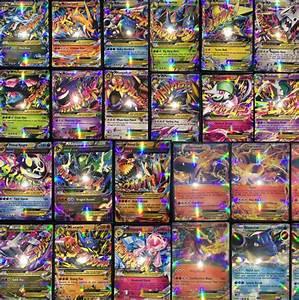 mega pokemon cards ex 100 pcs