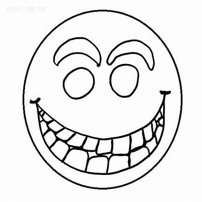 Coloring Face Smiley Pages Sad Printable Happy