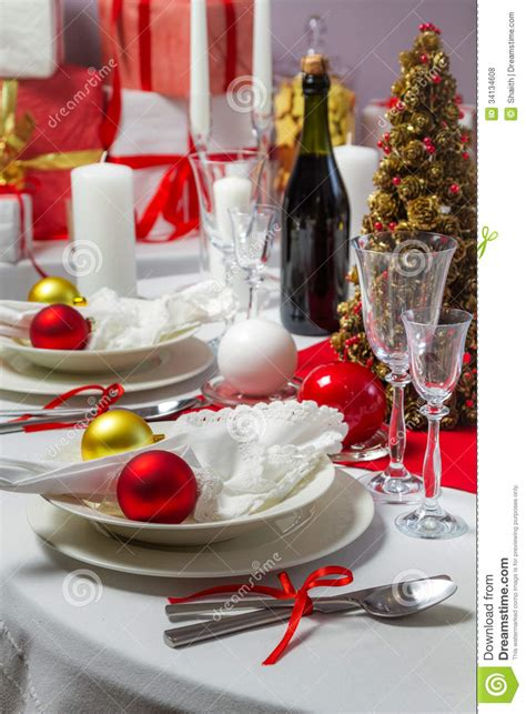 christmas dinner was ready to serve on royalty free stock