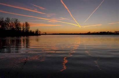 Southern Illinois Lakes Lake Near Setting Sun