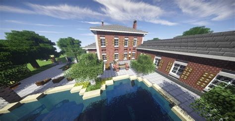 georgian estate  minecraft house design