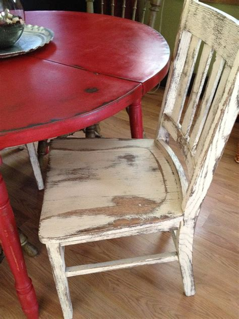 distressed  country kitchen table
